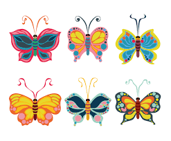 colorful butterfly clipart vector collection
