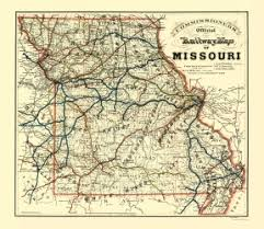missouri map images missouri railroad maps maps of the past