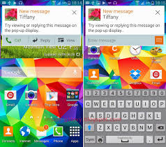 samsung galaxy s5 display text messages as pop ups in