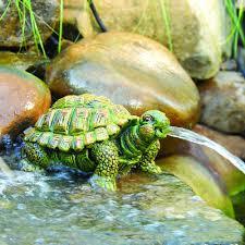 amazon com totalpond turtle spitter pond decor patio lawn