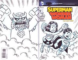 superman sketch cover front and back by chris giarrusso chris