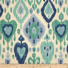 Discount Home Decor Fabric by Richloom Django Ikat Blend Turquoise Discount Designer Fabric