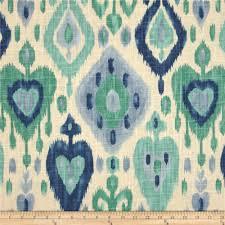 Home Decorator Fabrics Online Richloom Django Ikat Blend Turquoise Discount Designer Fabric