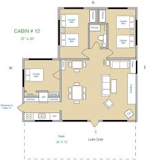 3 bedroom cabin plans cabin 12 kee nee moo sha on lake cass county minnesota