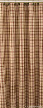 Country Porch Curtains Primitive Shower Curtains Foter