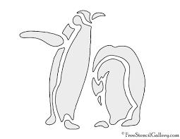 drawn penguin stencil pencil and in color drawn penguin stencil