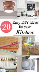 20 easy and quick diy project ideas for your kitchen spruce up