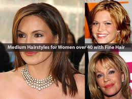 hairstyles for fine hair and women over 40 medium hairstyles for women over 40 with fine hair women medium