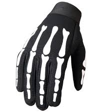 ladies motorcycle gloves leathers skeleton mechanics gloves