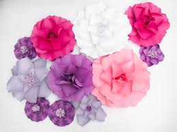 Kate Spade Wall Decor by 11 Paper Flowers Backdrop Kate Spade Inspired Party Purple