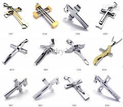 steel cross necklace images Wholesale men 39 s fashion jewelry stainless steel cross pendant jpg