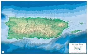 Map Puerto Rico Puerto Rico Relief Map Neer Cartography