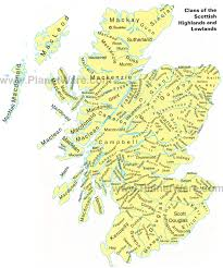 World Map Scotland by Map Of Clans Of The Scottish Highlands And Lowlands Planetware