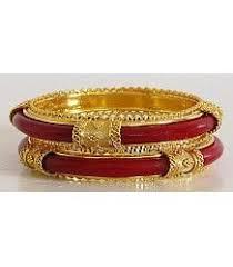 shakha pola bangles pola bridal jewelry gold plated bracelets bangles meenakari