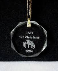 engraved glass ornaments personalized grandmother ornament