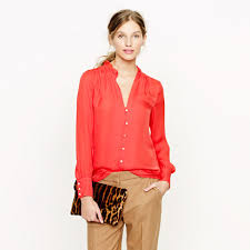 j crew blouses collection silk georgette blouse allproducts j crew