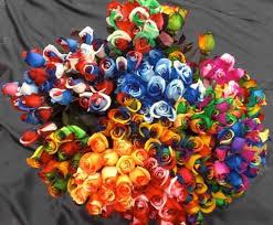 tie dye roses tie dye ecuadorian roses 60 single stems