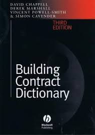 design and build contract jkr building contract dictionary 3rd edition david chappell derek
