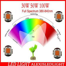 best 2015 full spectrum led grow light chip actual power 30w 50w