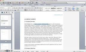 business plan screenshots u2013 microsoft office word and excel