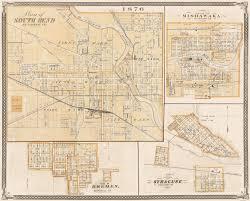 Syracuse Zip Code Map by Old Map South Bend Mishawaka Bremen Indiana Landowner