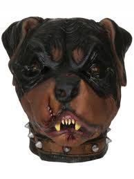 Halloween Rubber Masks Zombie Rottweiler Dog Horror Latex Rubber Mask Fancy Dress