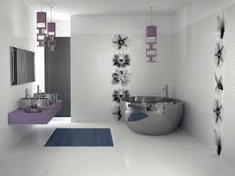 contemporary bathroom decorating ideas with amazing chrome oval