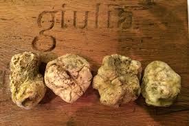 italian white truffle giulia s menu has been usurped by the italian white truffle