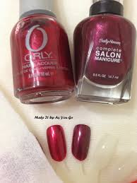 make it up as you go sunday funday fall nail colors deep red