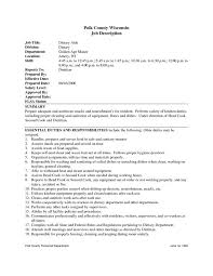 Food Industry Resume Examples by Hospital Cleaning Job Resume Contegri Com