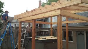 Flat Roof Pergola Plans by Guys Tub Shelter Project Youtube