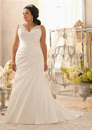 plus size wedding gowns v neck lace satin ruched plus size wedding dress with buttons