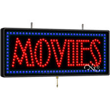 movies led sign for video and cd retail just 249 99