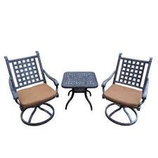 Square Bistro Chair Cushions Cushions Bistro Sets Patio Dining Furniture The Home Depot