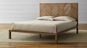 Crate And Barrel Bed Frame Custom Atwood Bed Without Bookcase - Crate and barrel black bedroom furniture