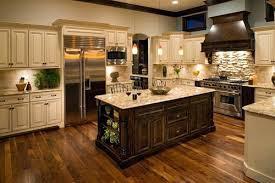 Cream Colored Kitchen Cabinets With White Appliances Traditional Antique White Kitchen Cream Color Kitchen Cabinets