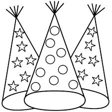 happy birthday hats coloring sheets happy birthday jesus coloring