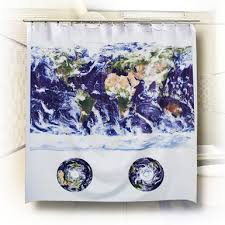 Shower Curtain World Map Map Shower Curtains Eco Friendly 100 Peva