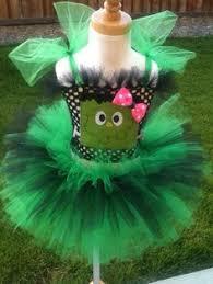 Green Tutu Halloween Costume Frankenstein Tutu Dress Baby Girls Toddler Halloween Frankenstein