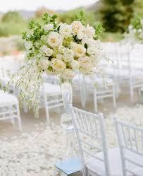 wedding altar flowers white and hydrangea aisle marker flower arrangement at