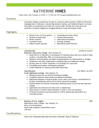 resume samples education best lead educator resume example livecareer create my resume