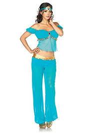 Genie Halloween Costumes Tweens Blue Arabian Belly Dancing Costumes Princess Jasmine Costume