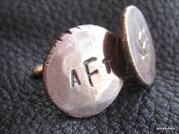 Letter Monogram Buy A Custom Cufflinks With Three Letter Monogram In Solid Bronze