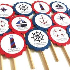 nautical cake toppers outer space cupcake toppers for birthday party