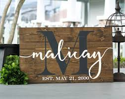 wedding gift name sign wedding gift mothers day gift for last name sign