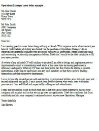 bunch ideas of sample cover letter for director of operations for