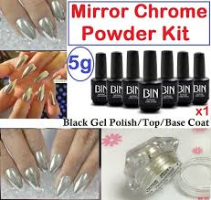 5g mirror powder kit chrome effect nails pigment trend silver gold