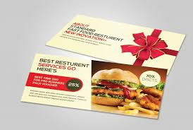 restaurant gift card a look at the most popular gift certificate templates