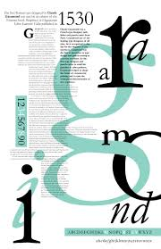Best Font For Resume Garamond by A Poster Explaining The History Of The Garamond Typeface I Like
