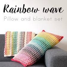 Crochet Patterns For Home Decor New Crochet Pattern Rainbow Wave Set Haakmaarraak Nl